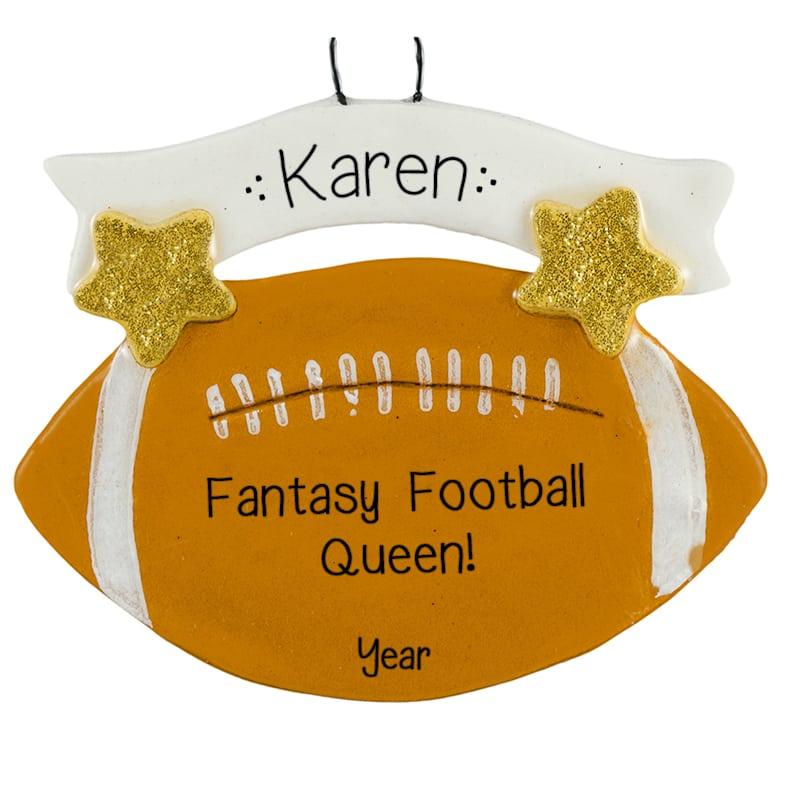 Personalized Dough Fantasy Football Queen Ornament Gift Idea