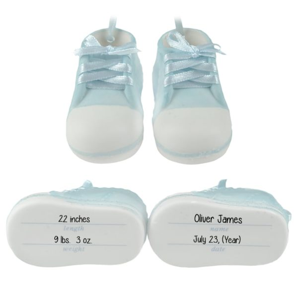 Personalized Baby BOY'S Shoes Porcelain
