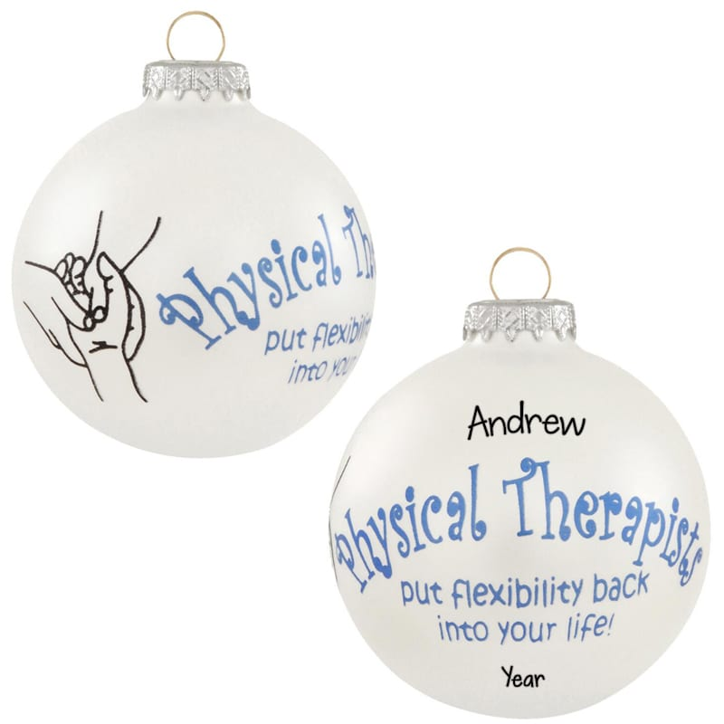 Physical Therapist Glass Ball Personalized Ornament