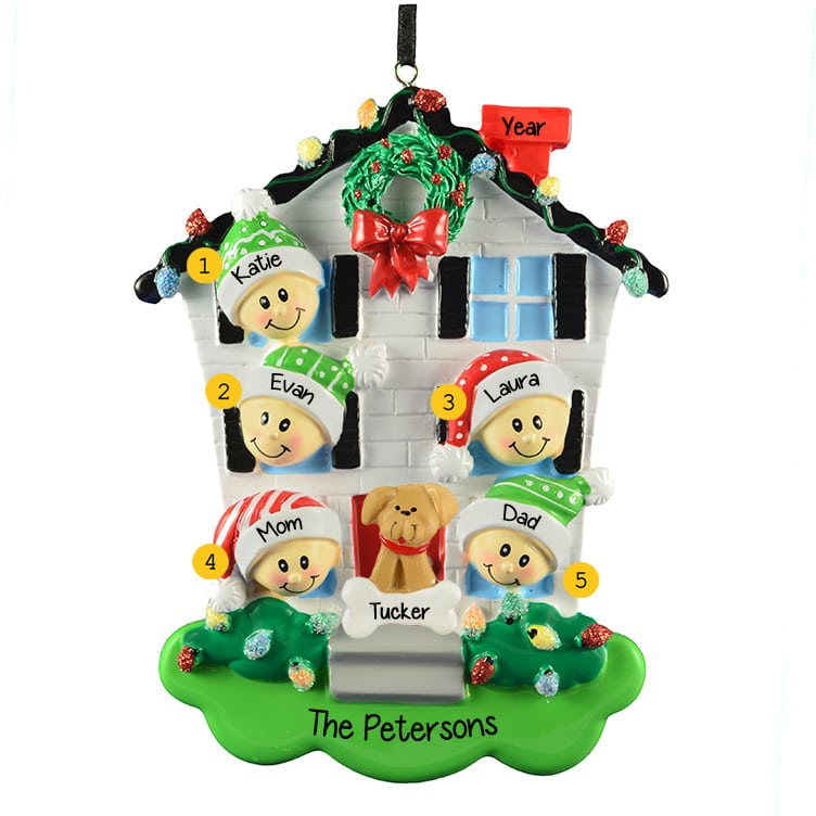 First House Christmas Ornament Personalized