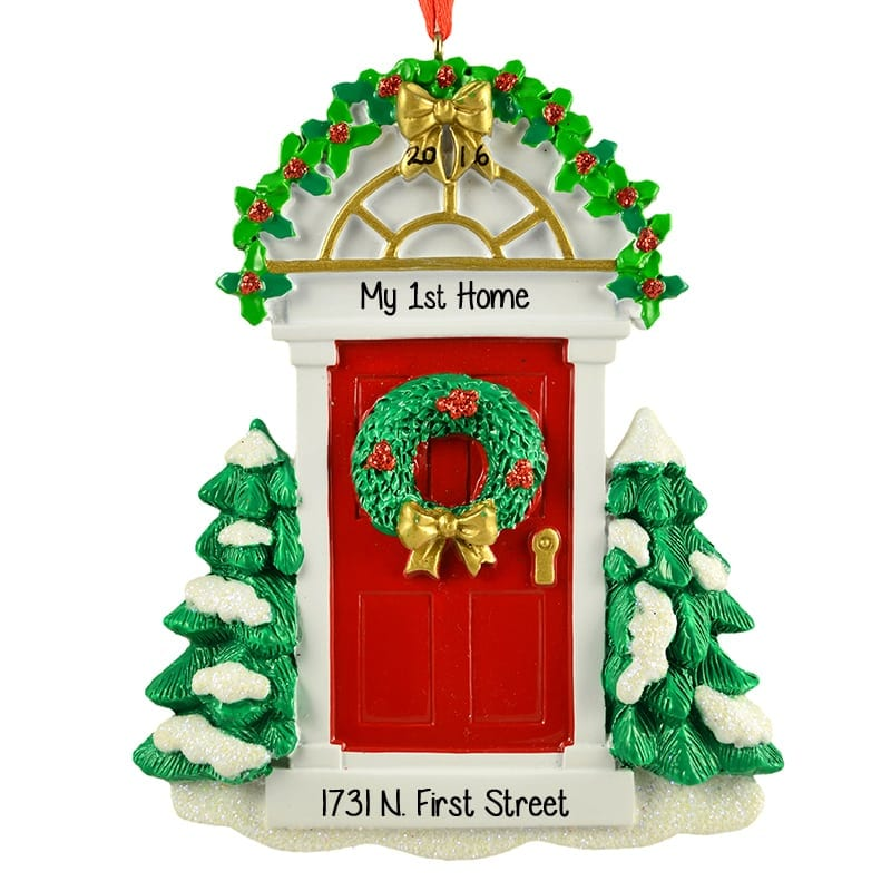 first christmas in chicago personalized ornament