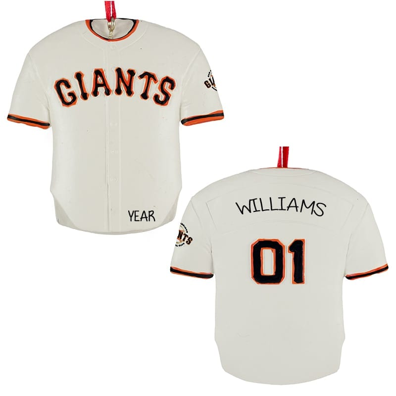 new concept 8febb e4fdf San Francisco GIANTS Personalized Jersey Ornament