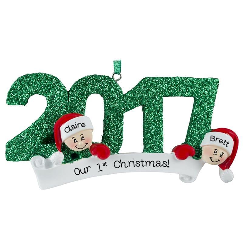 1st Christmas Ornaments Couple
