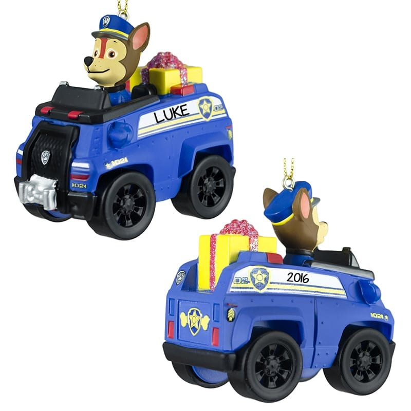 Paw Patrol CHASE In Police Car Personalized Ornament