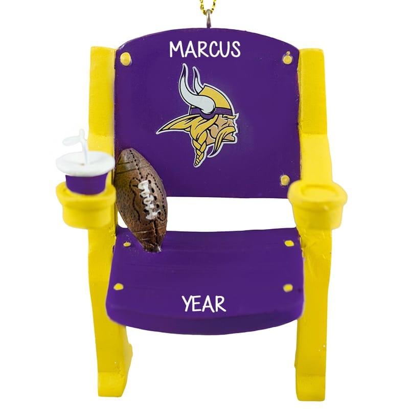 Minnesota VIKINGS Stadium Seat Personalized Ornament  f9499fe67