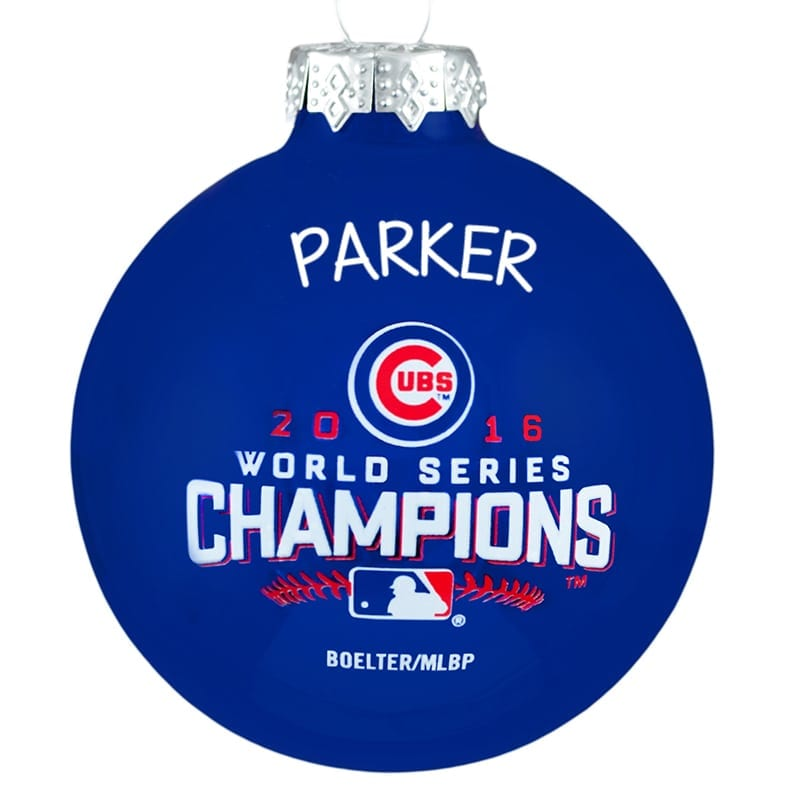 Cubs Christmas Ornaments.2016 Chicago Cubs Glass Ball Christmas Ornament