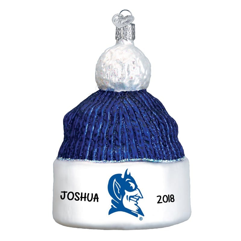 Personalized Duke Beanie Blue Devils 3-Dimensional Logo Glass ... 911207f9421