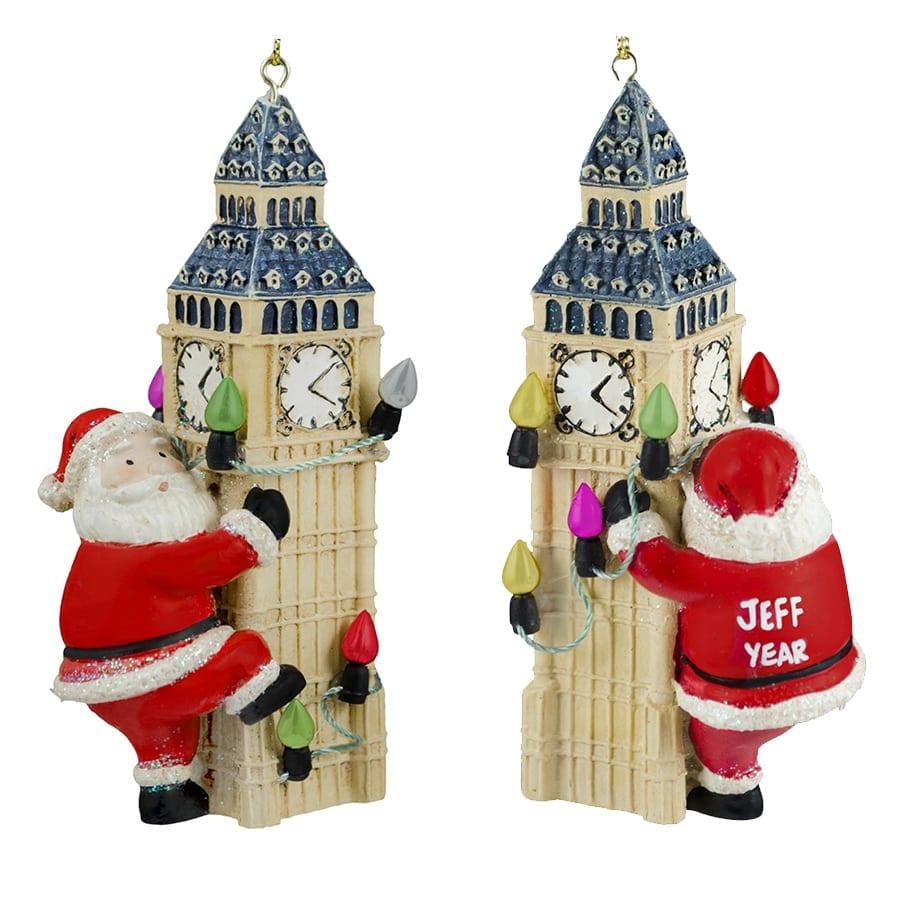 Personalized Big Ben London Christmas Lights Ornament