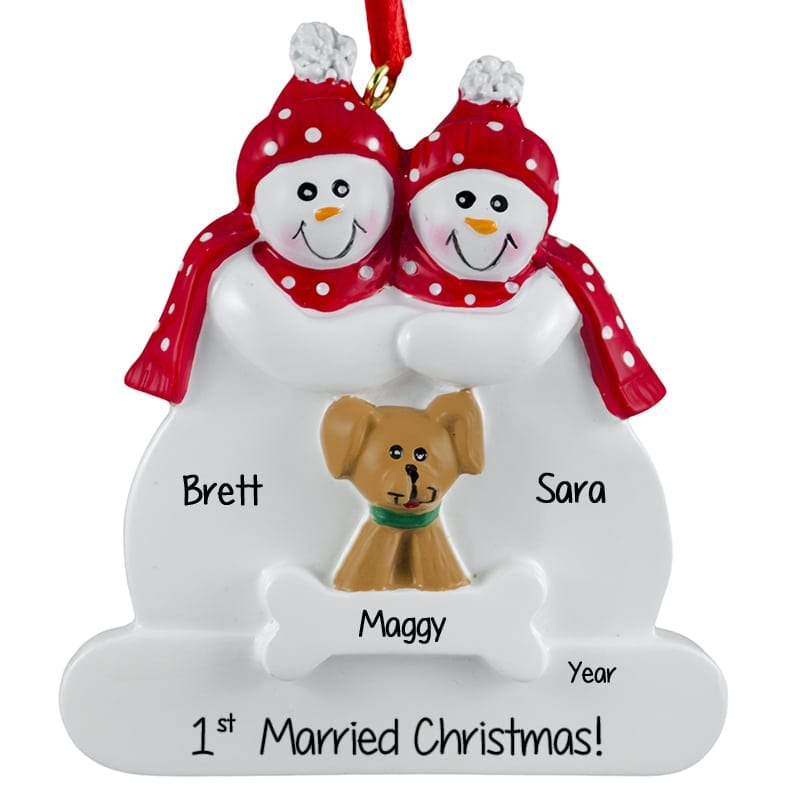 Couple Ornament With  Cat  Dogs