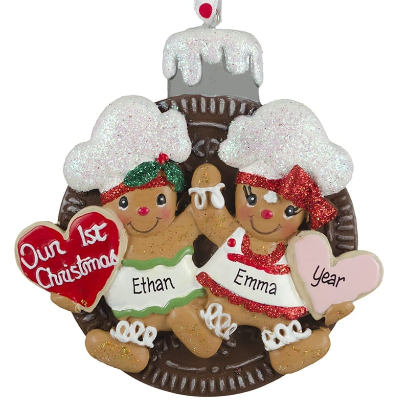 Our First Christmas Gingerbread Boy Girl Oreo Cookie Ornament
