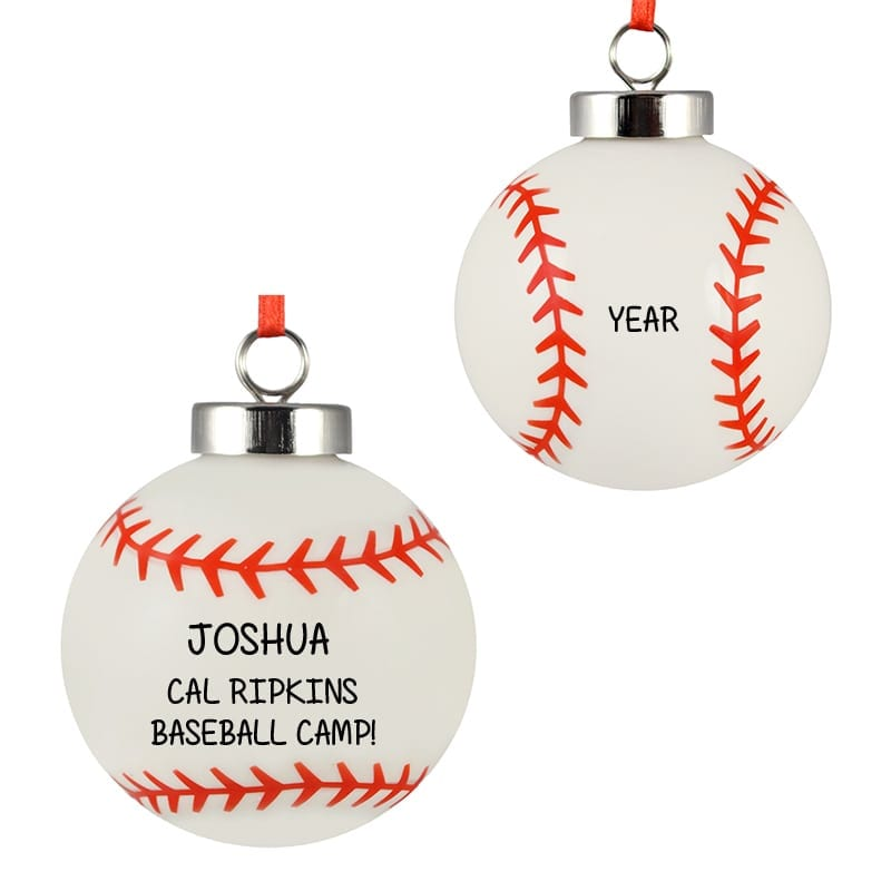 baseball camp ceramic totally dimensional ornament