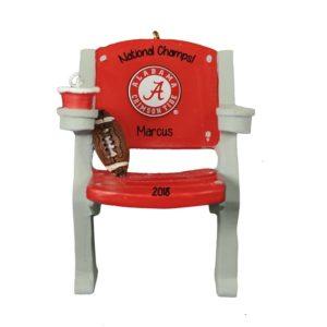 2018 Football Champions Alabama Stadium Chair Ornament