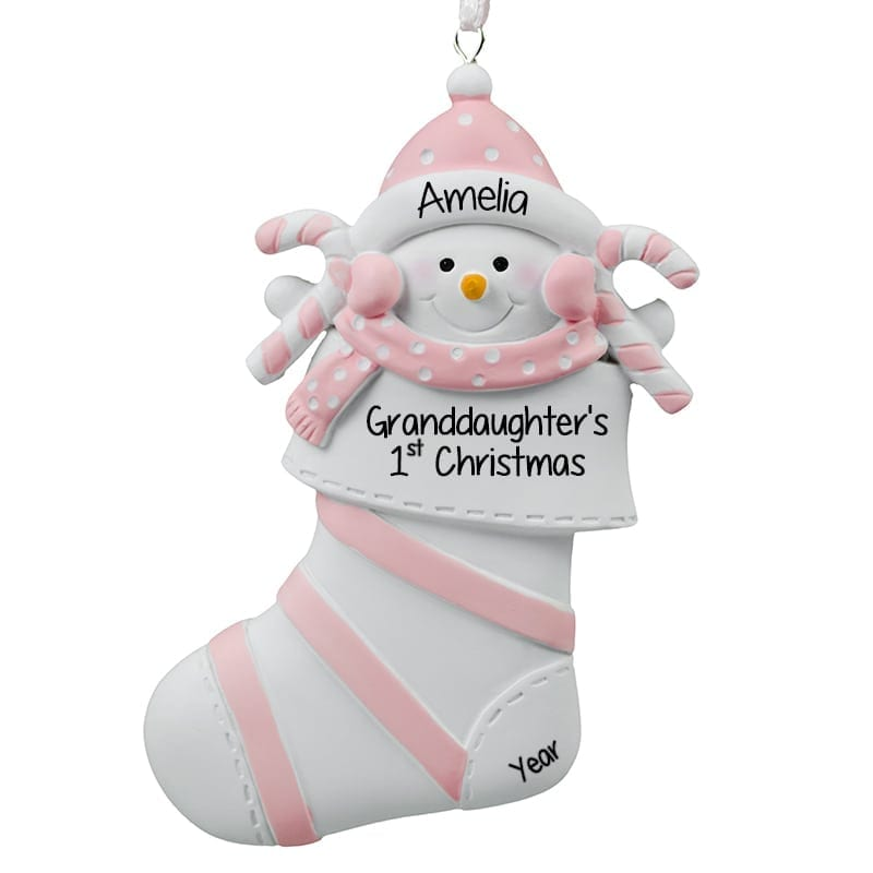 Personalized Granddaughter Christmas Ornaments 2020 Granddaughters 1st Christmas Ornament 2020 Personalized | Sncbbs
