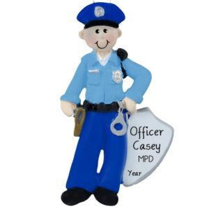 Police Officer Gifts Police Officer Ornament Cop Gifts Personalized Christmas Ornaments Handmade C180C