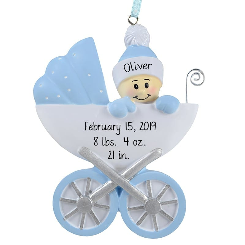 baby boys first christmas in red present ornament - Baby Boy First Christmas Ornament