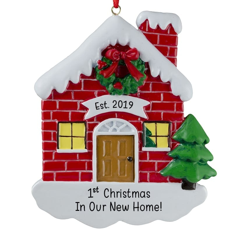 1st christmas in our new home red brick house ornament