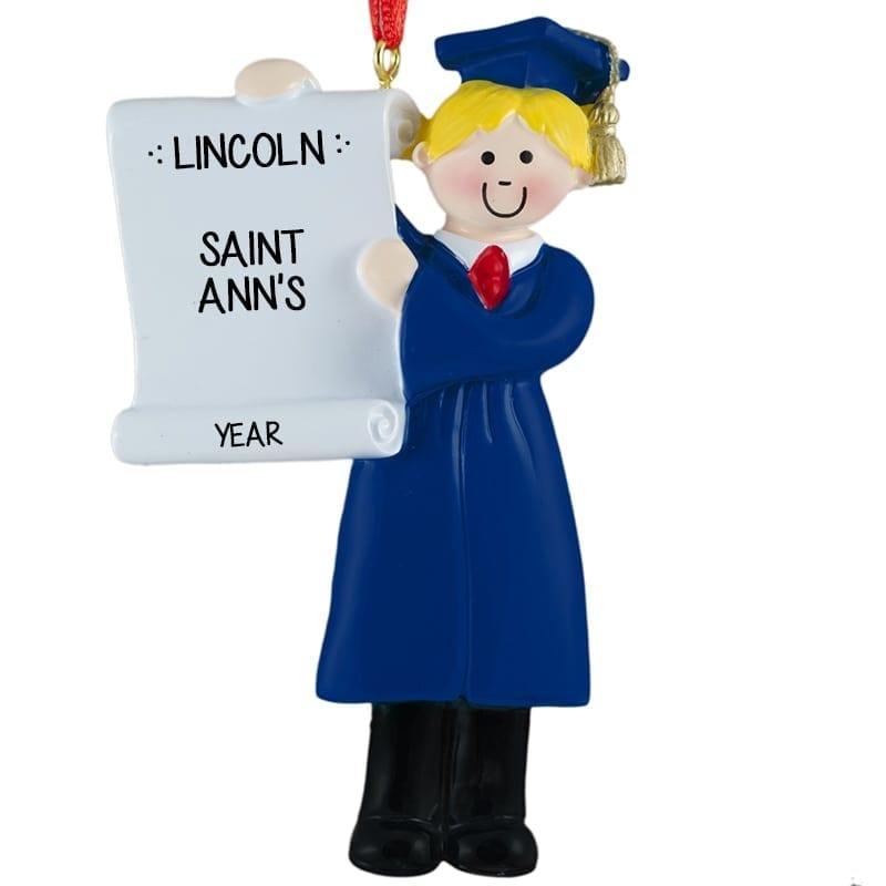 Preschool BOY Graduate BLUE Cap & Gown BLONDE   Personalized ...