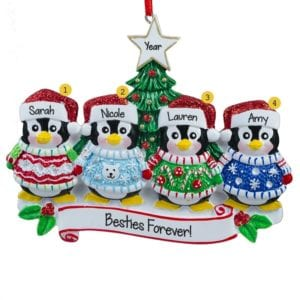 personalized four friends christmas ornaments gifts personalized