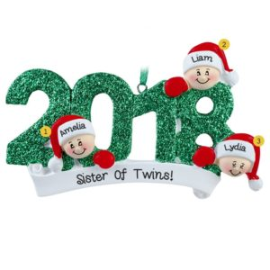 twin christmas ornaments