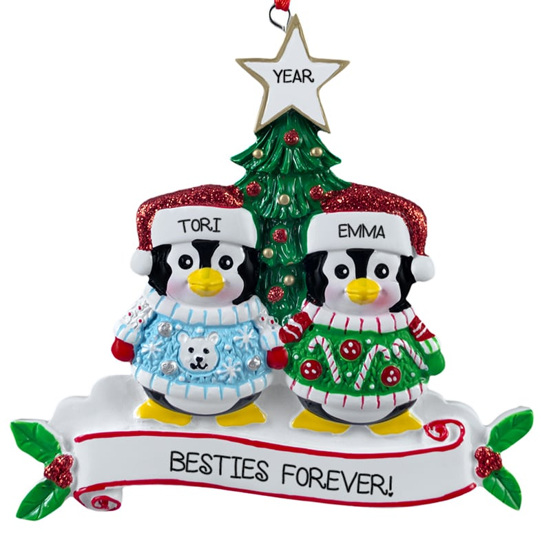 2018 gay lesbian were married couple in sled ornament - Best Friend Christmas Ornaments