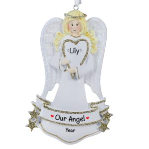girl angel christmas ornaments gifts personalized ornaments for you