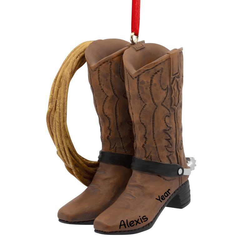 aa3174c59b5 Cowboy Boots And Rope Western 3-Dimensional Ornament