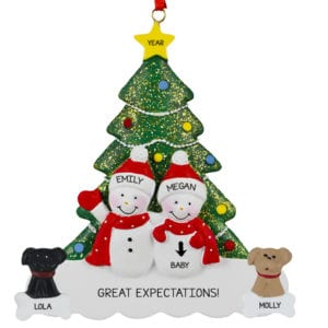 Expecting Christmas Ornaments.Expecting Pregnant Ornaments Archives Personalized