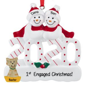 Engaged 2020 Christmas Ornament Engagement Ornaments Archives   Personalized Ornaments For You