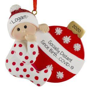 Baby Boy First Christmas Ornament Christmas Gift for Baby Boy Personalized Christmas Ornament