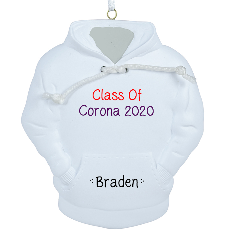 Class Of 2020 Corona College Hoodie Sweatshirt Personalized Ornament Personalized Ornaments For You